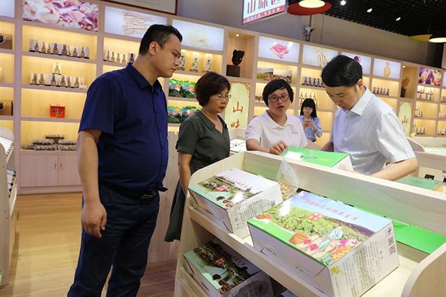 网库集团调研组莅临县级电子商务运营中心视察