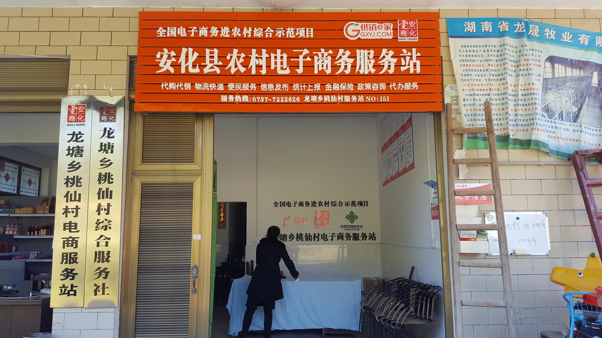 龙塘乡桃仙村电商服务站